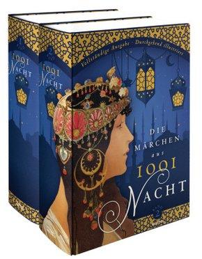 Märchen aus 1001 Nacht - Vollständige Ausgabe durchgehend illustriert (2 Bände)