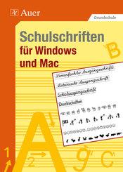 Schulschriften für Windows und Mac, CD-ROM