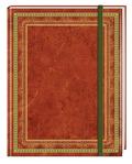 Blank Book Lederlook rotbraun (klein)