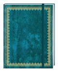 Blank Book Lederlook blau (groß)