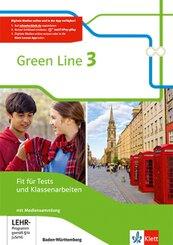 Green Line, Ausgabe für Baden-Württemberg ab 2016: 7. Klasse, Fit für Tests und Klassenarbeiten, m. 1 CD-ROM