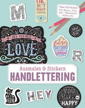 Ausmalen & Stickern: Handlettering