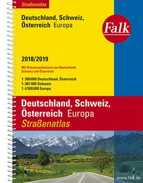 Falk Straßenatlas 2018/2019 - Deutschland, Schweiz, Österreich, Europa