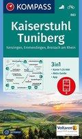 Kompass Karte Kaiserstuhl, Tuniberg, Kenzingen, Emmendingen, Breisach am Rhein
