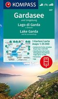Kompass Karte Gardasee und Umgebung, 3 Bl.; Lago di Garda e dintorni, 3 Bl.; Lake Garda and its surroundings, 3 Bl.
