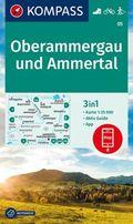 Kompass Karte Oberammergau und Ammertal