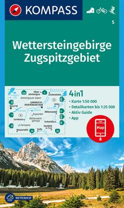 Kompass Karte Wettersteingebirge, Zugspitzgebiet
