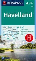 KOMPASS Wanderkarte Havelland