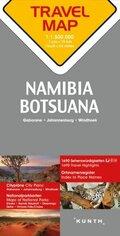 Travelmap Reisekarte Namibia / Botsuana / Südafrika / Namibia / Botswana / South Africa 1:1.500.000