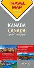 Travelmap Reisekarte Kanada / Canada 1:4 Mio