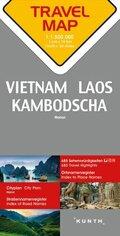 Travelmap Reisekarte Vietnam / Laos / Kambodscha 1:1.500.000