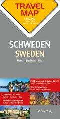 Travelmap Reisekarte Schweden 1:800.000; Sweden; Sverige / Suède