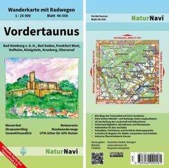 NaturNavi Wanderkarte mit Radwegen Vordertaunus