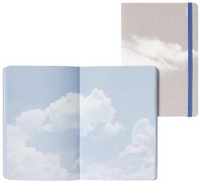 "Inspiration Book ""Cloud Blue"" Jeans Label Material grau/ weiß, innen bunt"