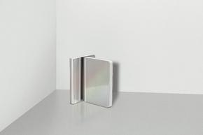 Pearl Grey Notizbuch Metallic Artificial Leather mit Hologramm Effekt