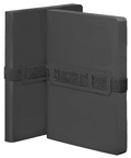 Voyager L Black Notizbuch Smooth Bonded Leather
