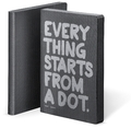 "Graphic L ""Everything Starts from a dot"" Smooth Bonded Leather schwarz / silber"