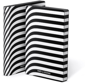 "Graphic S ""Prêt-à-écrire"" Smooth Bonded Leather schwarz / weiß"