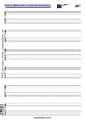 Noten- &Tabulatur-Block für Gitarristen - Notenpapier
