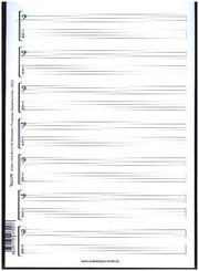 Noten- & Tabulatur-Block für Bassisten