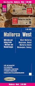 Reise Know-How Rad- und Wanderkarte Mallorca West (1:40.000); West Mallorca; Majorque, ouest / Mallorca oeste