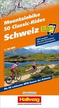 Hallwag Outdoor Map Schweiz, 50 Mountainbike Classic-Rides