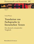 Translation von Fachsprache in literarischen Texten