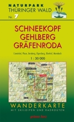 Wanderkarte Schneekopf, Gehlberg, Gräfenroda