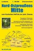 Landkarte Nord-Ostpreußens Mitte