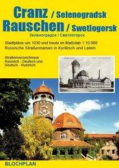 Stadtplan Cranz / Selenogradsk und Rauschen / Swetlogorsk