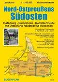 Landkarte Nord-Ostpreußens Südosten, 1:100.000