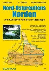 Landkarte Nord-Ostpreußens Norden
