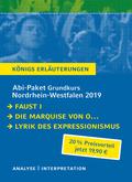 Abi-Paket Grundkurs Nordrhein-Westfalen 2019 - Königs Erläuterungen, 3 Bde.