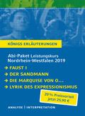 Abi-Paket Leistungskurs Nordrhein-Westfalen 2019 - Königs Erläuterungen, 4 Bde.