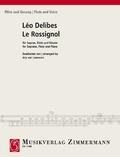 Le Rossignol (Die Nachtigall), Sopran, Flöte und Klavier. Partitur und Stimmen
