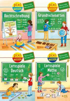Pixi Wissen - Basiswissen Grundschule, 4 Hefte