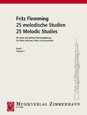 25 melodische Studien, Oboe und Klavier - H.1