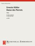Danse des Pierrots Polka. op. 88/4, Flöte und Klavier