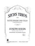 Sechs Trios op. 100, Flöte, Violine und Violoncello, Stimmensatz - H.2