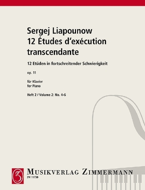 12 Études d'exécution transcendante / Zwölf Etüden in fortschreitender Schwierigkeit, für Klavier