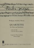 Quartette A-Dur KV 298 und C-Dur KV 171 Anh., Flöte und Klavier
