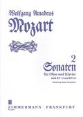 Zwei Sonaten C-Dur und F-Dur KV 14+13, Oboe und Klavier