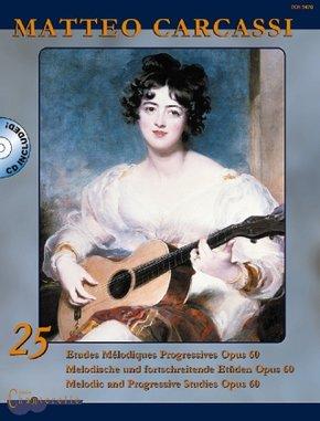 25 Etudes Melodiques Progressives op. 60 / Melodische und fortschreitende Etüden op. 60 / Melodie and Progessive Studies