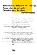 Schweizerische Zeitschrift für Soziologie: Bildungsexpansion, Familieninteraktion und die offene Gesellschaft; Expansion du système de formation, interactions fami; H.43/3