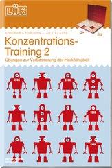 LÜK: Konzentrationstraining 2: Übungen zur Verbesserung der Merkfähigkeit