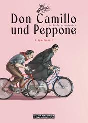 Don Camillo und Peppone in Bildergeschichten - Sportsgeist