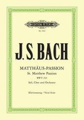 Matthäus-Passion für Solostimmen, Chor und Orchester BWV 244, Klavierauszug