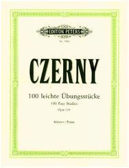 100 leichte Übungsstücke op. 139, für Klavier