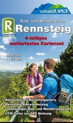 KKV Rad- und Wanderkarte Rennsteig, 4 Bl.