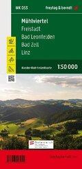Freytag & Berndt Wander-, Rad- und Freizeitkarte Mühlviertel - Freistadt - Bad Leonfelden - Bad Zell - Linz, 1:50.000